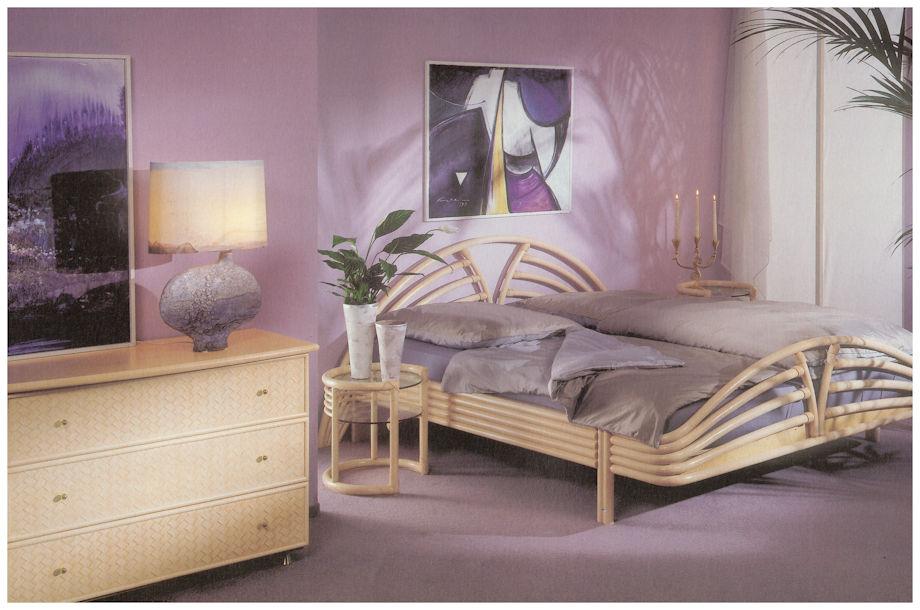 Rattanbett und Rattanbetten für Rattan-Schlafzimmer mit ...